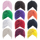 Wholesale ALICE Polyester Turban Sun Cap Headband Head Wrap Head Cover Hat - 1 Dozen