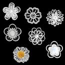 Muka 40Pcs 3D Flower Applique Sew on Lace Patch