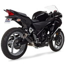 Hotbodies Racing 41102-2405 HON. CBR250R (11-14') MGP Exhaust - Slip-on Stinger Matte Carbon Canister