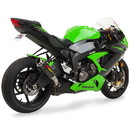 Hotbodies Racing 50901-2400 KAW. ZX6R (09-20) MGP Exhaust - Slip on Carbon Fiber Canister