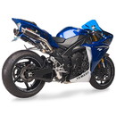 Hotbodies Racing 80901-2405 YAM. YZF-R1 (09-14') MGP Exhaust - Slip-on Stinger Matte Carbon Canister