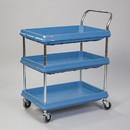 Health Care Logistics - Metro Deep Ledge Utility Cart  3 Shelf