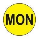 Health Care Logistics - MON  3/4in circle label Yellow w/Black