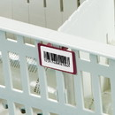 Health Care Logistics - Label Holders for Easy Exchange System Cart Baskets, Trays and Flip and Stack Storage Baskets, Pkg.