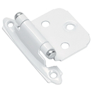 Amerock Variable Overlay, Self-Closing, White with Chrome Tips Hinge