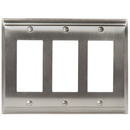 Amerock 1906900 Wallplate Satin Nickel 3 ROCKER