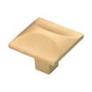 Belwith H076127 FUB 1-1/4in sq knob Flat Ultra Brass