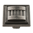 Belwith HH74670-BNV Knob 1-5/16 inch Sq Black Nickel Vibed