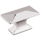 Belwith P2151-14 Knob 1-3/4in Rectangle Angle Bright Nickel