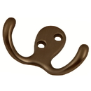 Belwith P27115-RB Double Utility Hook 3/8in C/C Refined Bronze