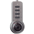 FJM Security Products Dual Access Lock 3/8 Material Chrome