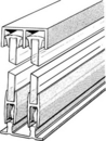 EPCO Sliding Glass Door Track Complete Assembly 96