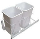 KV Door Mount Slide Out Waste Bins double bin 27qt white