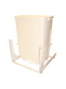 KV Door Mount Slide Out Waste Bins single bin 35qt white