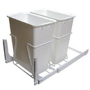 KV Door Mount Slide Out Waste Bins double bin 35 qt white