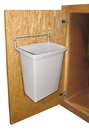 KV Door Mounted White Waste Bin