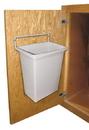 DoorMount WasteBin w/9Qt WHITE Bin