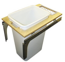 KV Top Mount Slide Out Waste Bins single bin 50qt white