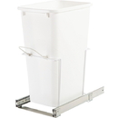 KV Single Waste Slide Out Bins 35 qt white 20