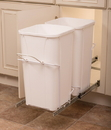 KV Double Waste Slide Out Bins 27qt white 22