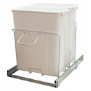 KV Double Waste Slide Out Bins 20 qt white 20