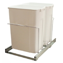 KV Double Waste Slide Out Bins 35qt white 22
