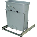 KV Soft Close Bottom Mount Waste Bins single bin 20qt platinum 14-3/4