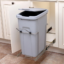 KV Soft Close Bottom Mount Waste Bins single bin 20qt platinum 8-3/4
