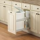 KV Soft Close Door Mount Waste Bins single bin 50qt white