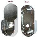 Flange f/Oval Rod w/5mm Peg CHROME