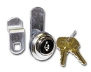 CompX National Disc Tumbler Lock Nickel Key #346, Cylinder for up to 5/8