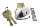 CompX National Pin Tumbler Lock Dull Chrome Key #107, 1-5/16Mat