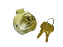 CompX National Disc Tumbler Lock Antique Brass Key #642, Drawer lock for up to 7/8