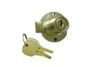 CompX National Disc Tumbler Lock Antique Brass Key #415, Door lock for up to 7/8