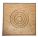 Beaded 3x3 Rosette Cove Edge MAPLE