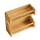 Omega National Door Mount Wood Spice Rack 11-3/4