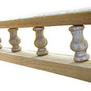 8 Ft RED OAK Spindle Rail With Lip