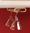 Rev-A-Shelf Single Stemware Rack polished brass 11