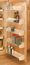 Rev-A-Shelf 4235-20-5 Door Storage Trays 5 tray set wood