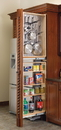 Rev-A-Shelf Tall Cabinet Filler Organizer for hanging storage left handed 38 1/2