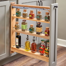 Rev-A-Shelf 3W Wood Base Organizer 23D x27-5/16H Soft Close