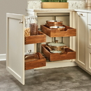 Rev-A-Shelf Blind Corner 2-Tier Walnut 33-3/16W Left Blind Corner