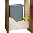 Rev-A-Shelf 4WCSD-1550DM-1 50 Quart Single Waste Unit with Tandem Soft Close and Servo Drive