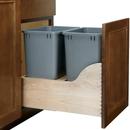 Rev-A-Shelf 35 Quart Double Waste Unit with Tandem Soft Close and Servo Drive