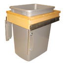 Rev-A-Shelf 4WCTM-1516DM-1 4WCTM Series Top Mount Waste Bin single bin 35qt Mettalic 16-1/4