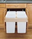 Rev-A-Shelf 4WCTM Series Top Mount Waste Bin 4 bin 27qt white