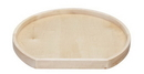 Rev-A-Shelf 4WLS201-31-BS52 Premiere D-Shaped Wood Susan Shelf With Bearing 31