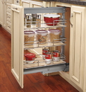 Rev-A-Shelf 5225-09-MP 3 Shelf Pantry Pullout Soft Close Maple/Chrome