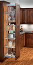 Rev-A-Shelf 5258-14-MP 5 Shelf Pantry Pullout Soft Close Maple/Chrome