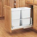Rev-A-Shelf 5349-1527DM-2 5349 Series Pull Out Waste Bins double bin 27qt white 21